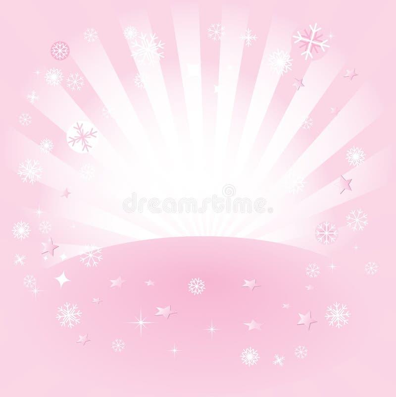 La estrella repartió color de rosa libre illustration