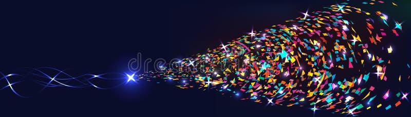 La estrella trae la bandera brillante colorida ilustración del vector