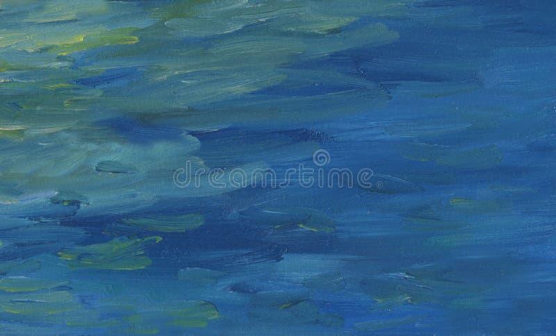 La estructura del mar agita en tiempo tranquilo stock de ilustración