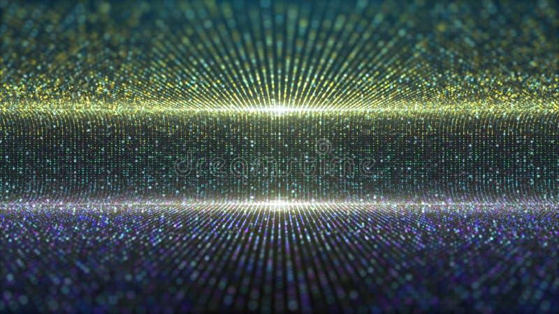 La etapa futurista de las partículas enciende el fondo libre illustration