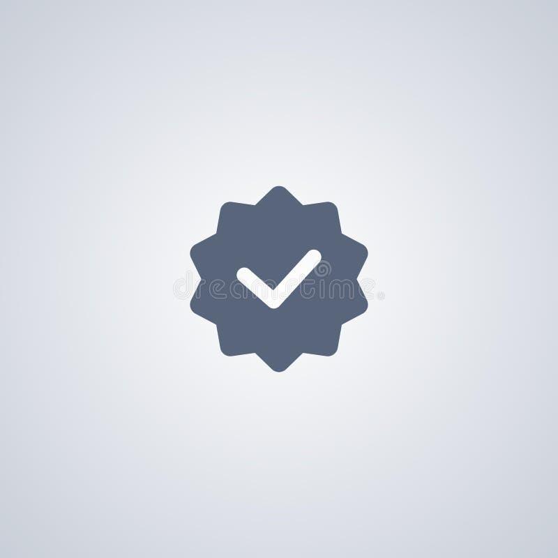 La etiqueta de la novedad, vector el mejor icono plano stock de ilustración
