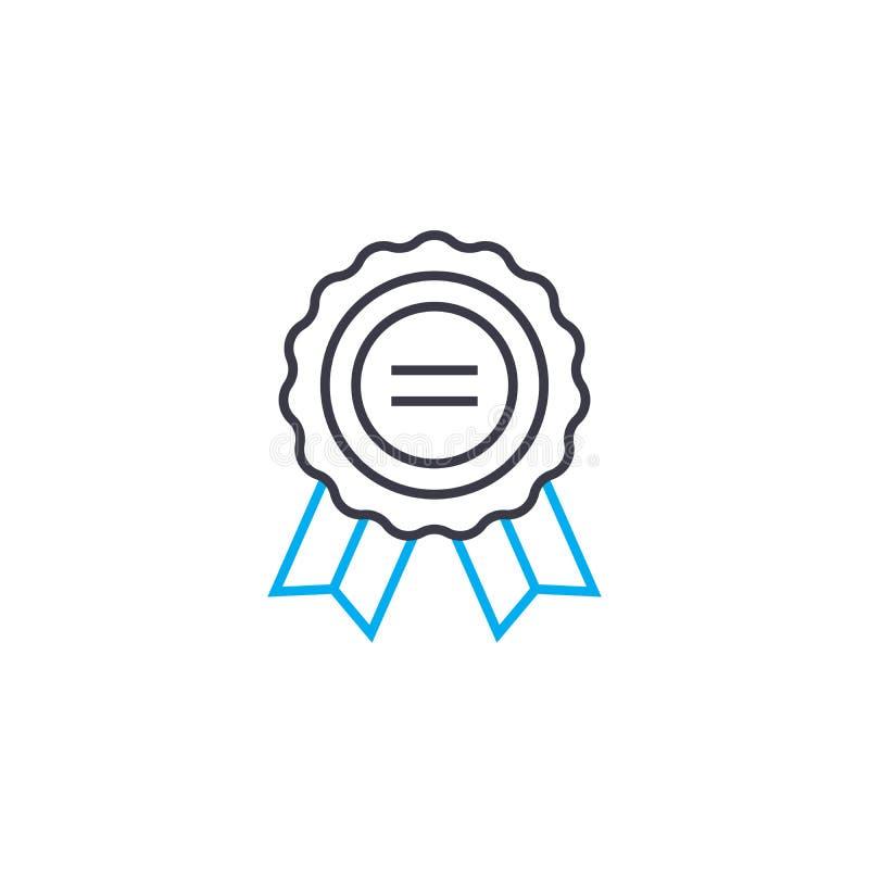 La etiqueta del vector de nombramiento de la organización alinea ligeramente el icono del movimiento Etiqueta del ejemplo de nomb libre illustration
