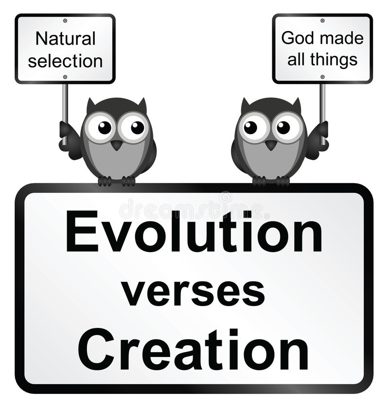La evolución versifica la creación ilustración del vector
