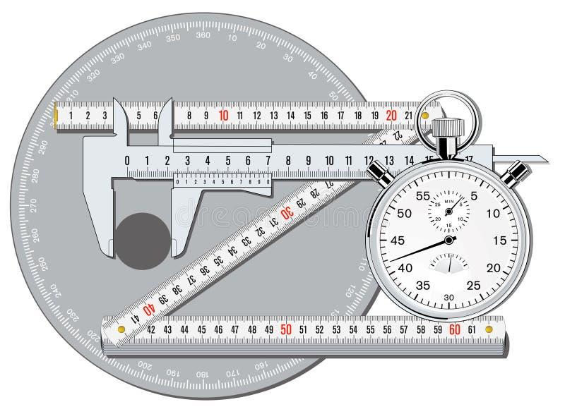 La exactitud calibra stock de ilustración