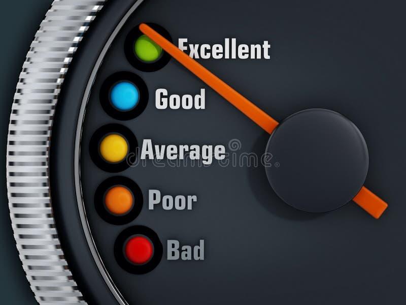 La excelencia nivela speedmeter libre illustration