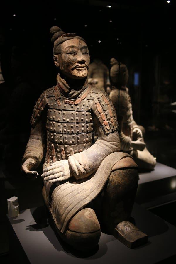La exposición de Qin Figures fotos de archivo