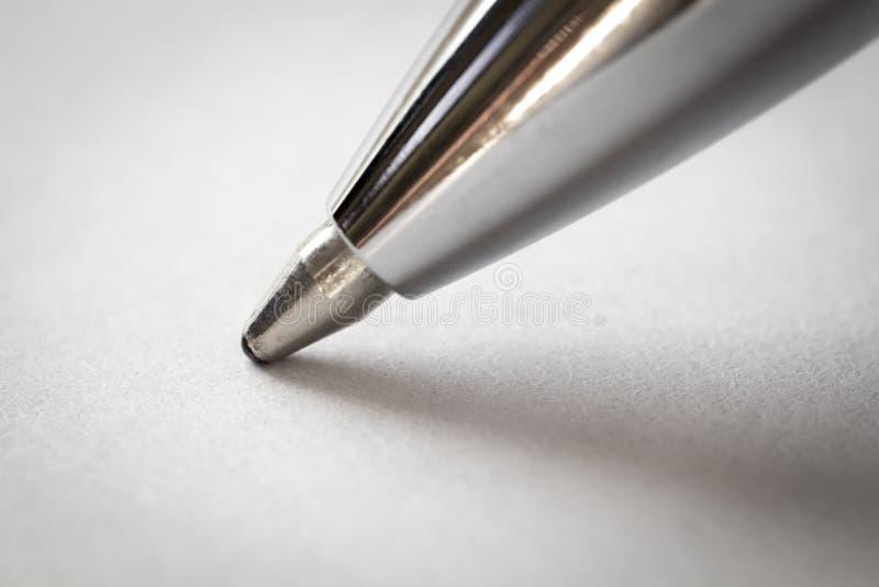 La extremidad del bolígrafo foto de archivo