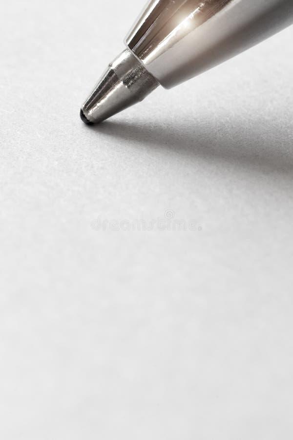 La extremidad del bolígrafo imagen de archivo libre de regalías