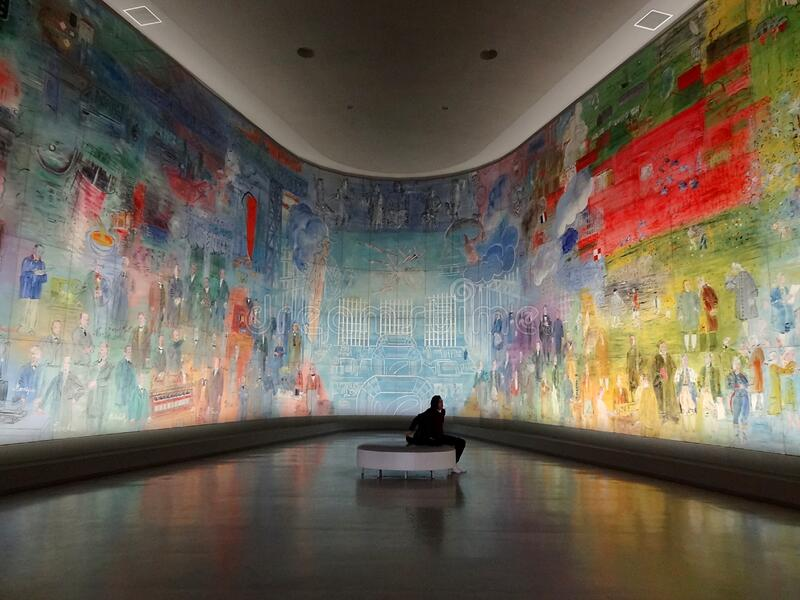 ' La Fée Electricité' , Raoul Dufy, 1937 Musée d' Arte de moderne la ville de París, palais de Tokio fotos de archivo