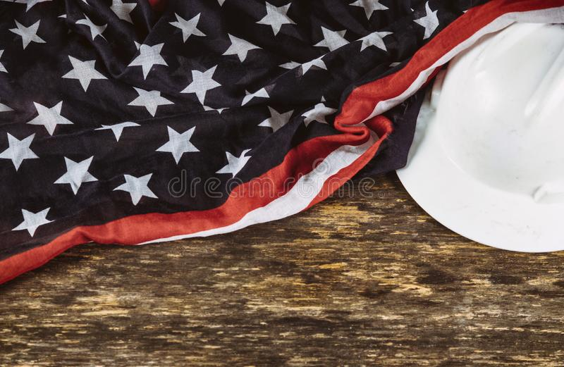 La Fête du travail est des vacances fédérales de vue supérieure des Etats-Unis Amérique avec l'espace de copie pour la conception photographie stock libre de droits