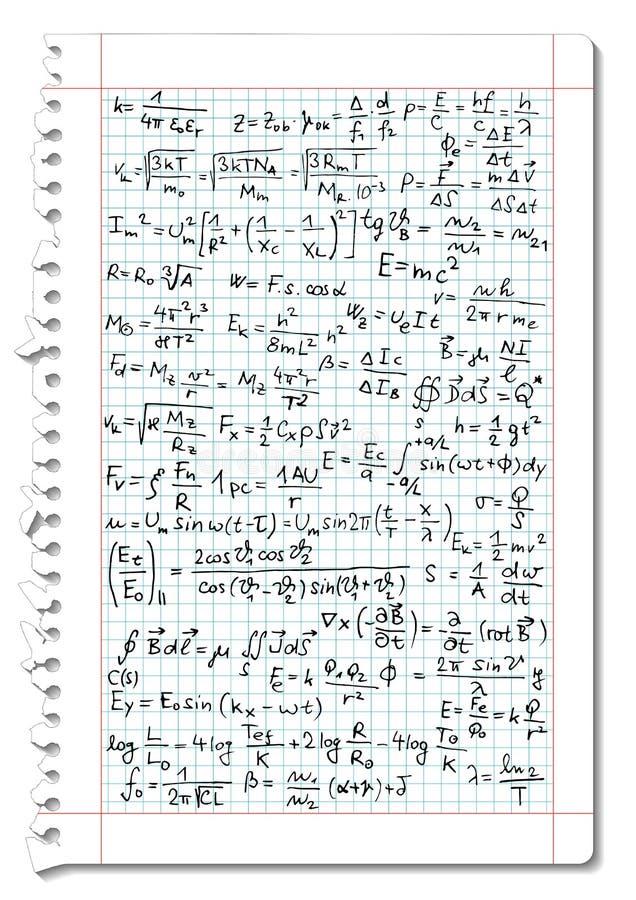 La física ilustración del vector