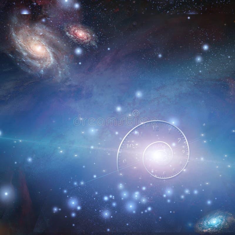 La física del espacio stock de ilustración