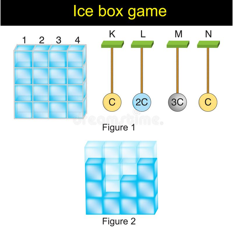 La física - versiyon 01 del juego de la caja de ıce libre illustration