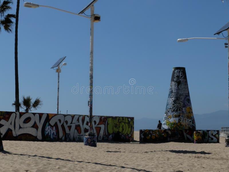 LA för grafittiVenedig strand fotografering för bildbyråer