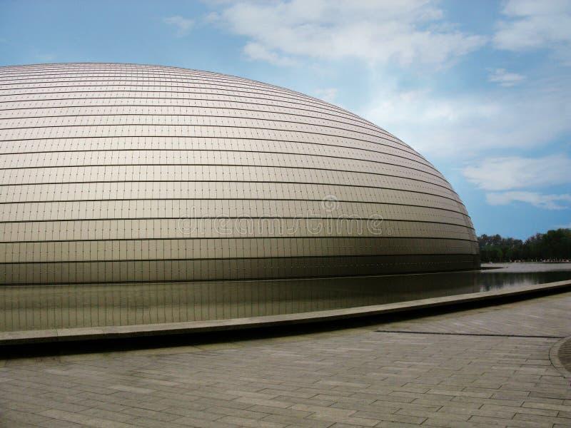 La façade d'opéra de Pékin nouvellement établi photo libre de droits