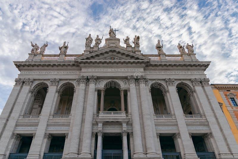 La façade de la basilique Basilica di San Giovann de St John Lateran photo libre de droits