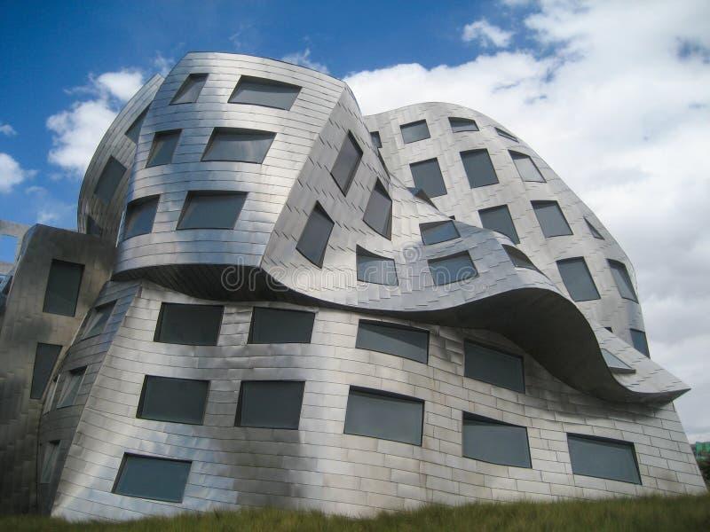 La façade de fonte de bâtiment de Lou Ruvo Center pour Brain Hea images libres de droits