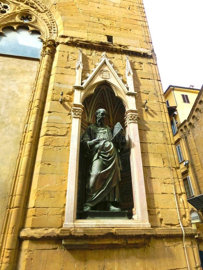 La façade du bâtiment historique à Florence, Toscane, Italie image stock