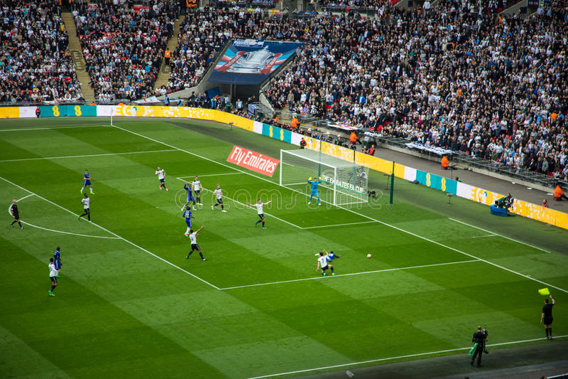 La FA CUP Chelsea Semi-finale v Tottenham photos stock