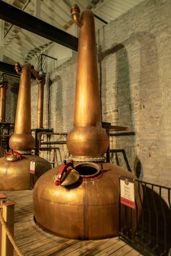 La fabricación del whisky de Borbón fotos de archivo libres de regalías