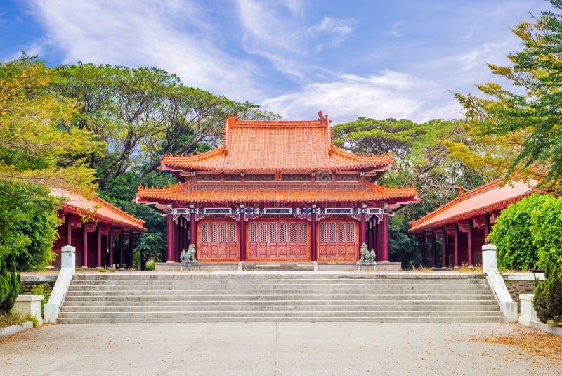 La facciata dei martiri shrine a Tainan, Taiwan fotografia stock