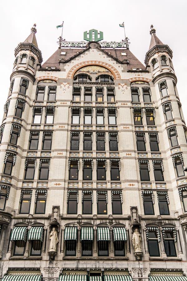La facciata dell'edificio di Art Nouveau ha chiamato Witte Huis la Casa Bianca  fotografia stock