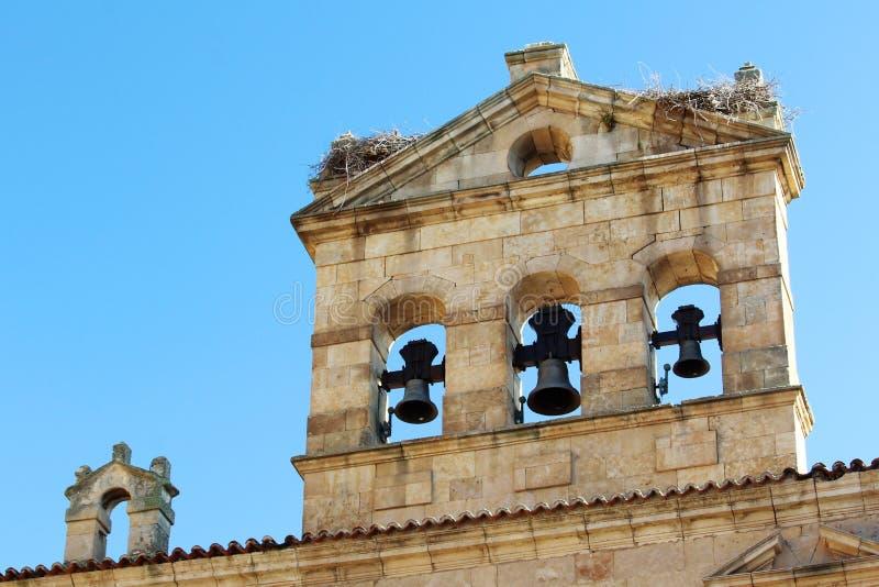 La facciata della cattedrale del convento di de San Esteban, Salamanca, Spagna fotografia stock