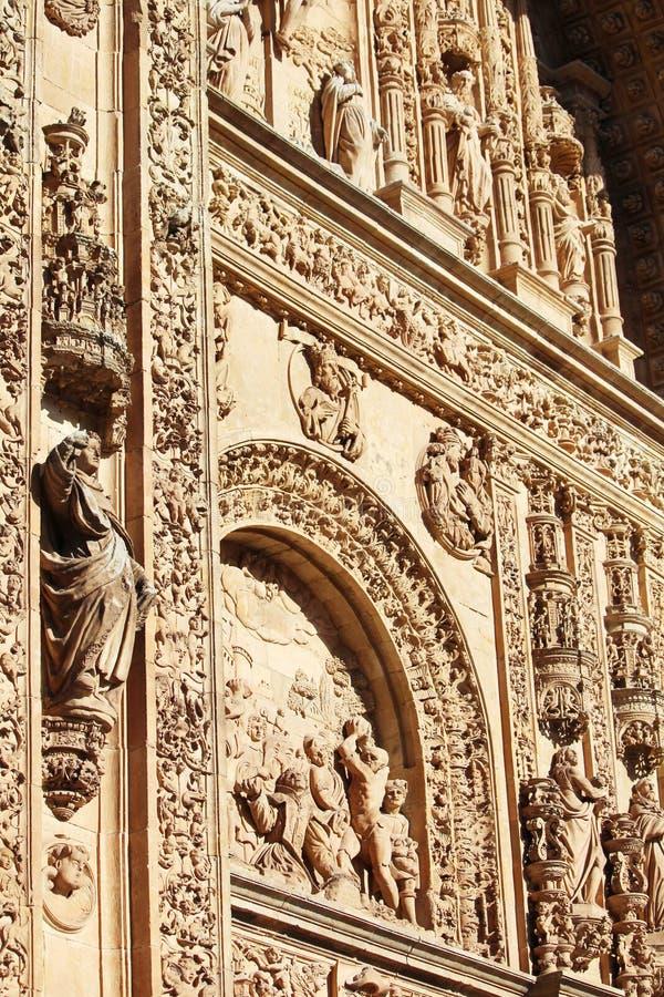 La facciata della cattedrale del convento di de San Esteban, Salamanca, Spagna immagine stock