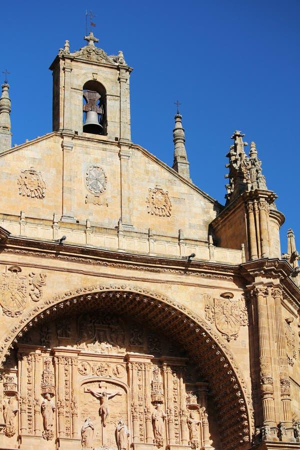 La facciata della cattedrale del convento di de San Esteban, Salamanca, Spagna immagini stock
