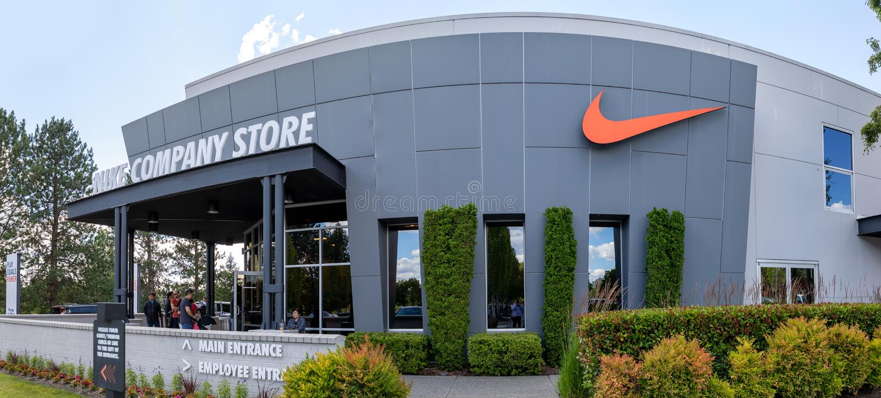 La facciata della Nike immagine stock libera da diritti