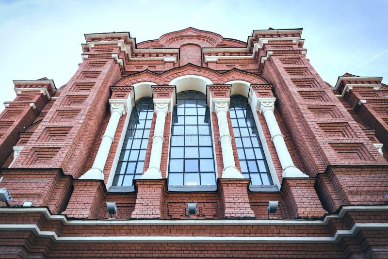 La fachada de la catedral de la suposición en Tula, Rusia fotografía de archivo