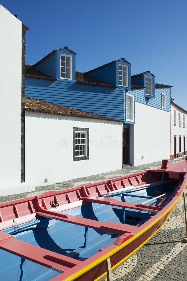 La fachada del museo de los Whalers en Lages hace Pico, Azo foto de archivo libre de regalías