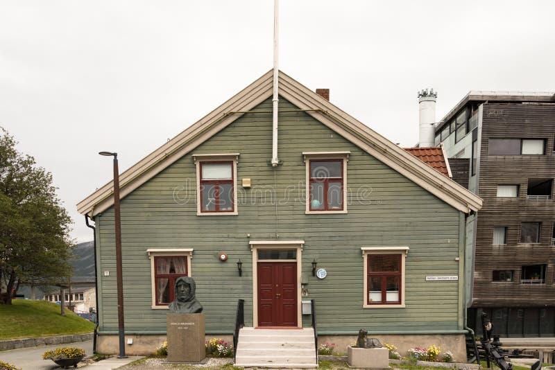 La fachada del museo-Polarmuseet de Pollar en Tromso, Noruega fotos de archivo libres de regalías