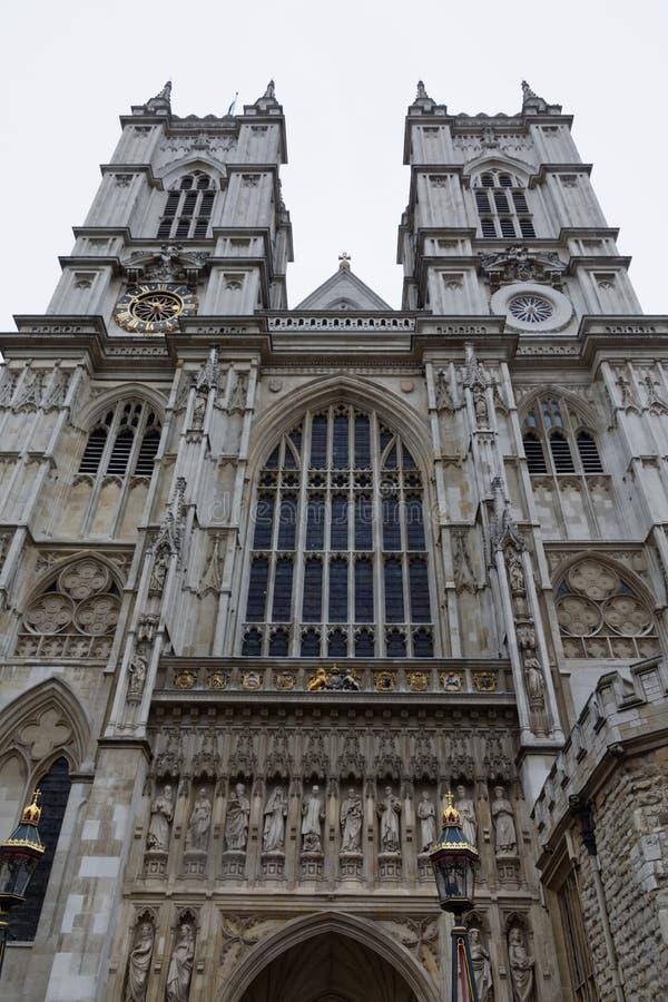 La fachada del oeste de la abadía de Westminster imágenes de archivo libres de regalías
