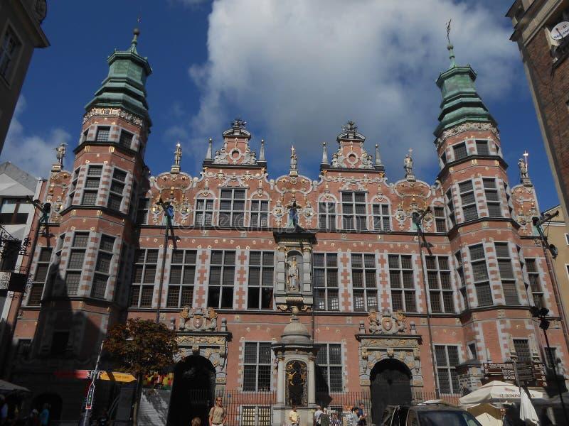 La fachada hermosa del gran arsenal en Danzig, Polonia imagen de archivo libre de regalías