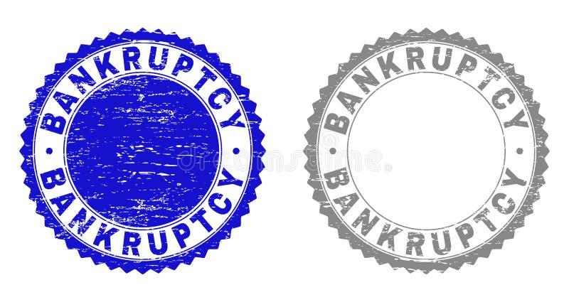 La FAILLITE texturisée a rayé des timbres illustration libre de droits