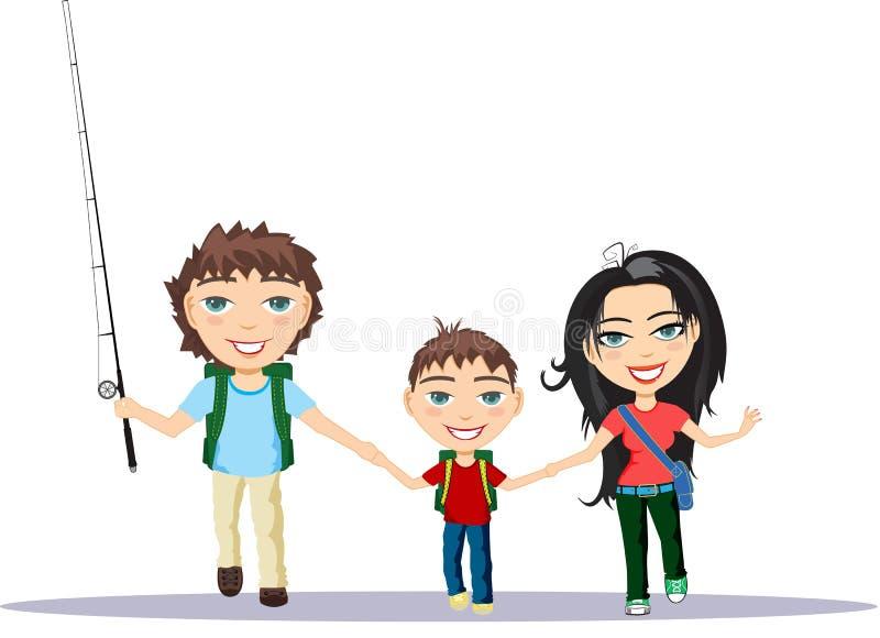 La famiglia insieme illustrazione vettoriale