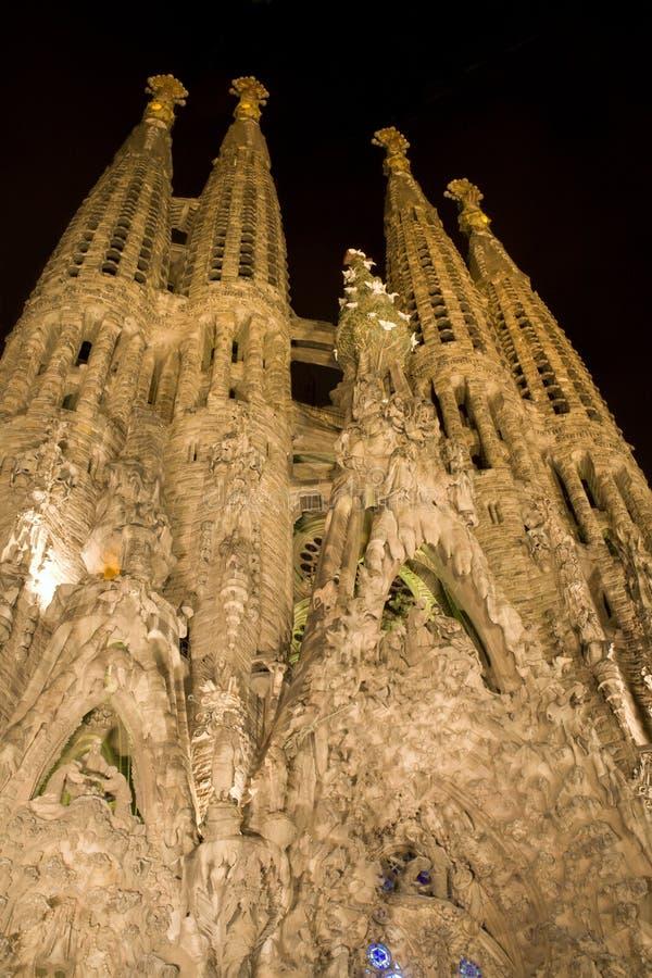 La Familia de Barcelona - de Sagrada fotografía de archivo libre de regalías