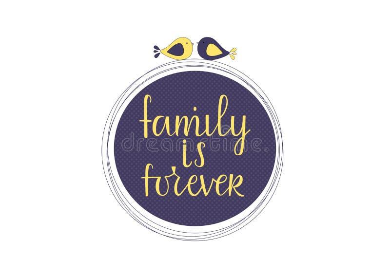 La familia es forever stock de ilustración