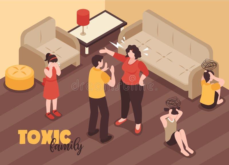 La familia está en conflicto fondo stock de ilustración