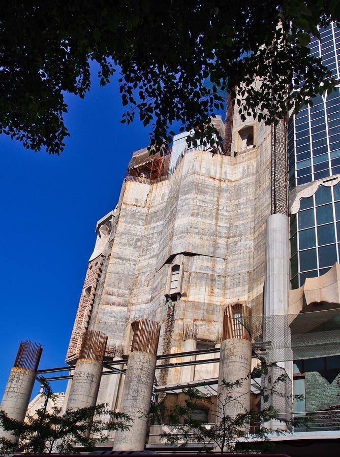 La Familia Sagrada, basilica non finita, Barcellona, Spagna fotografie stock