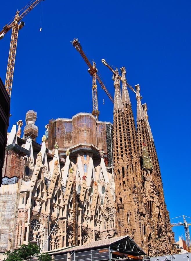 La Familia Sagrada, unfertige Basilika, Barcelona, Spanien stockfotografie