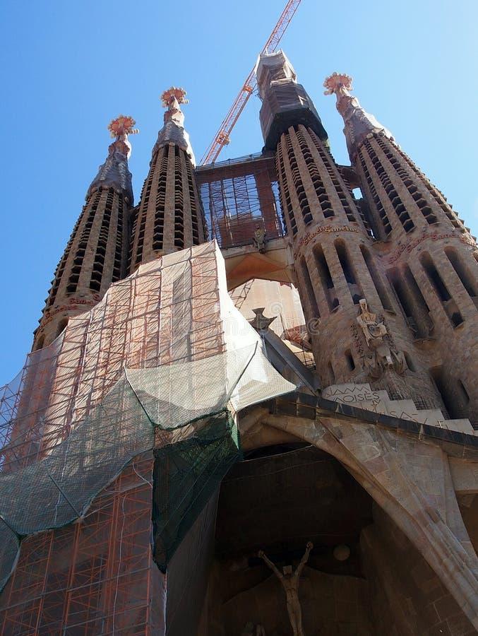 La Familia Segrada, Barcellona immagini stock