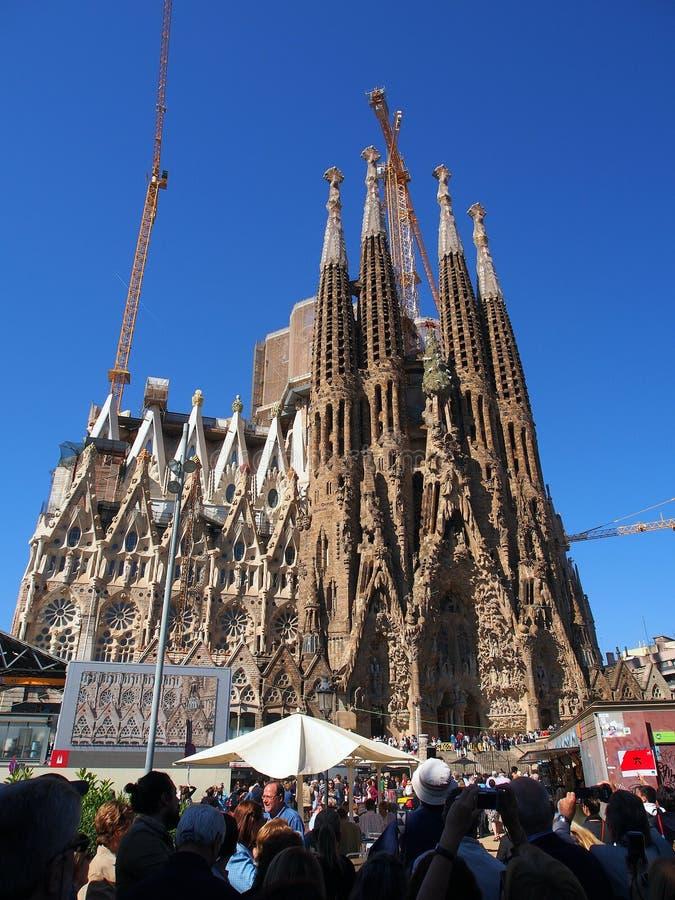 La Familia Segrada, Barcellona immagini stock libere da diritti
