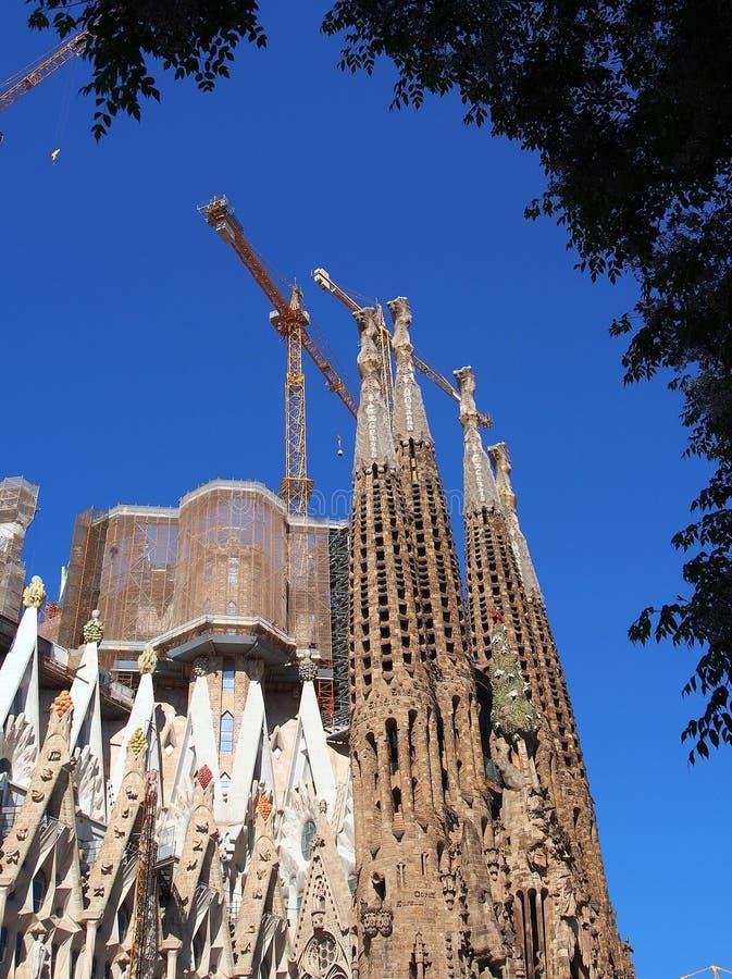La Familia Segrada, Barcellona fotografie stock libere da diritti