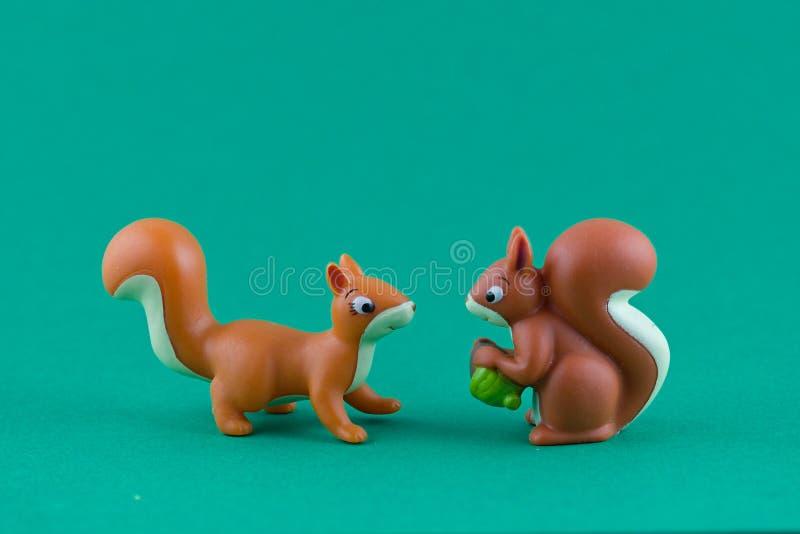 La famille d'écureuil photographie stock libre de droits