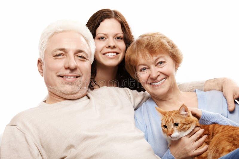 La famille de sourire photo stock