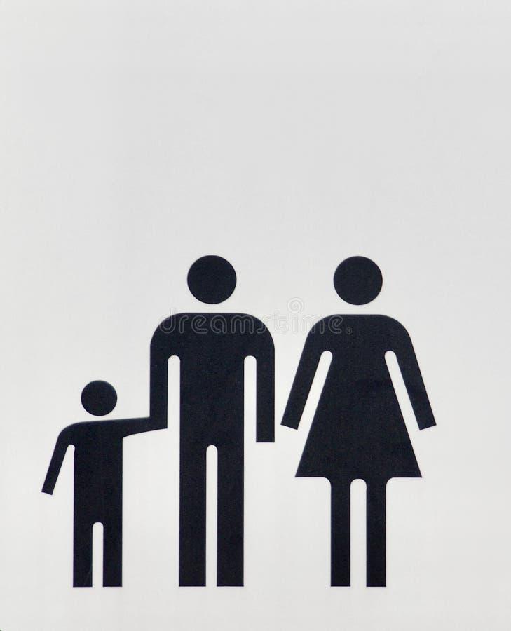 La famille est une unité sociale qui se compose des parents et des enfants image stock