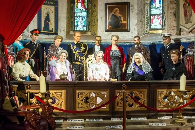 La famille royale de l'Angleterre photographie stock libre de droits