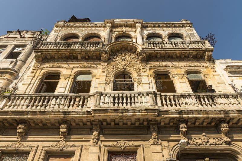 La famoso Guarida La Habana del restaurante de la fachada fotografía de archivo libre de regalías